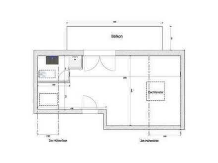 sehr schöne 1,5 Zimmer Wohnung, neu renoviert mit tollem Balkon