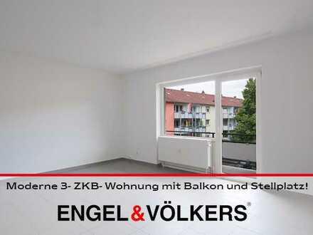 Moderne 3- ZKB- Wohnung mit Balkon und Stellplatz!