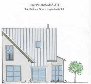 Neubau einer Doppelhaushälfte in Puchheim.