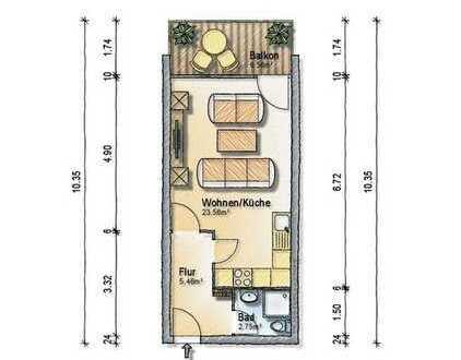 MÜNCHNER IG: ERBPACHT - Renovierungsbedürftiges 1-Zimmer Apartment in ruhiger Lage von Karlsfeld