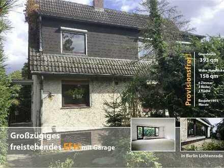 Provisionsfrei in Lichtenrade: freistehendes Einfamilienhaus mit Terrasse, Garten und Garage