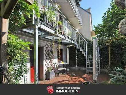 Findorff / Attraktives Reihenmittelhaus mit zwei Terrassen