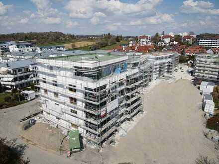 Exklusive 3-Zimmer-Obergeschosswohnung im Neubauprojekt 'Seeblick' mit Einbauküche und Balkon