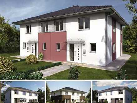 Moderne Doppelhaushälfte mit Grundstück!