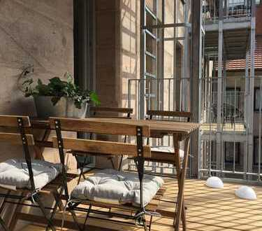 Sonnige 2- Zimmer-Loft-Wohnung in ruhigem Hinterhof, Fürth Mitte