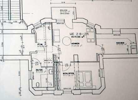 2-Raum-Wohnung_ca. 60m²_Balkon_Bad mit Wanne_ Stellplatz_Wäscheplatz