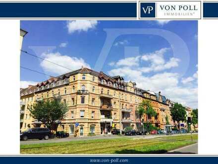 Nähe Goetheanlage: Schöne 5 ZKB Altbau-Wohnung mit Balkon