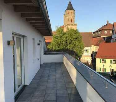 Erstbezug: Stilvolle 2-Zimmer-Wohnung mit Dachterrasse und Einbauküche