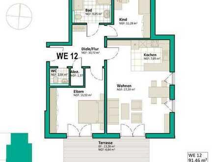 Erstbezug mit Terrasse: stilvolle 3-Zimmer-Erdgeschosswohnung in Mühlacker/Dürrmenz