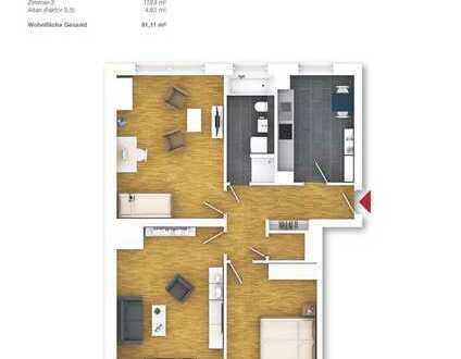Schicke 3-Zimmerwohnung! WHG 27, 2. OG links