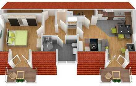 Moderne Eigentumswohnung mit Balkon im Dachgeschoss - Erstbezug
