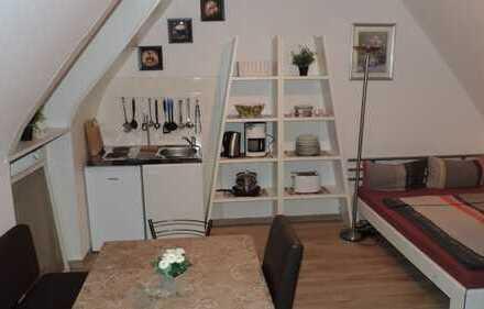 Gemütliche 1-Zimmer-Dachgeschosswohnung mit Einbauküche in Hockenheim