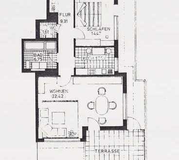 Sonnige 2-Zimmer Penthauswohnung in Göggingen