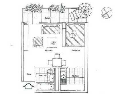 1-Zi. Wohnung in Sindelfingen zu vermieten