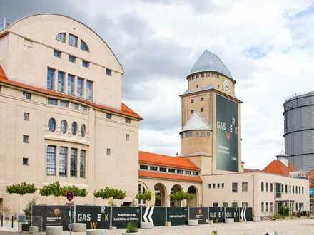 Coworking Arbeitsplätze   voll ausgestattet   mit Industriecharme am alten Gaswerk in Augsburg.