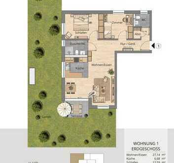 Familiengerechte 3-Zimmer-Wohnung im Erdgeschoss mit Garten (Whg. 1)