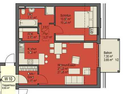 Dachgeschoss - so frei, so schön. Charmante Zweizimmerwohnung mit Balkon, Aufzug und TG-Stellplatz