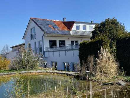 Modernes Wohn- und Geschäftshaus am Rande der Schwäbischen Alb