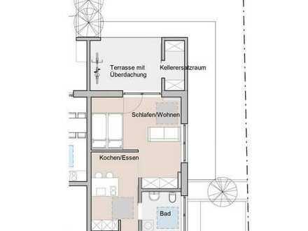 Schnucklige 2 Zimmerwohnung mit eigenem Grün