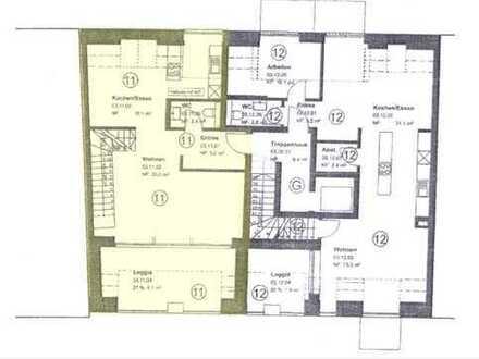 Luxus Penthouse-Wohnung in Münster mit großem Sonnenbalkon