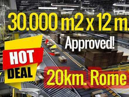 Area for industrial sheds 20 km from Rome GRA