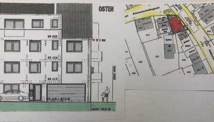 Baugrundstück mit Baugenehmigung für 3-Familienhaus und Garagen von PRIVAT zu verkaufen