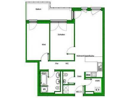 Toller Grundriss & toller Ausblick! Wunderbare 3-Zimmer-Wohnung auf ca. 74 m² mit riesigem Balkon!