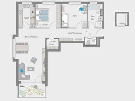 Helle 3,5 Dachgeschosswohnung - ERSTBEZUG.