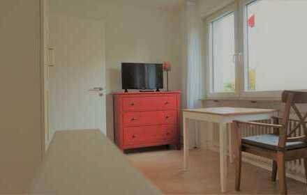 online buchbar: möbl. WG-Zimmer mit Wifi, TV, all in - ab ein Monat flexibel mieten