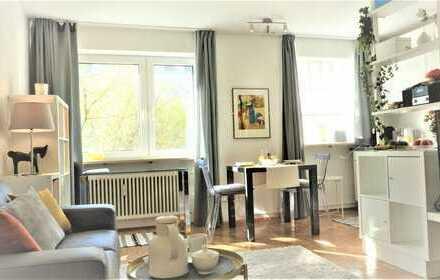 Voll möbliertes und ausgestattetes Apartment in ruhiger zentraler Lage (Maxvorstadt)