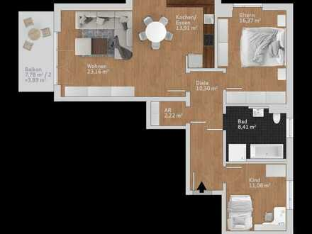 individuelle 3 Zimmer Wohnung