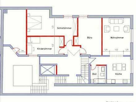 Helle und großzügige Wohnung mit 4 ZKB ca. 112 qm WF