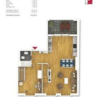 Top Maisonette 4-Zimmer-Wohnung im Dachgeschoss! WHG 15, DG rechts
