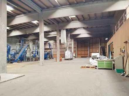 Halle, zur Entmantelung von Kupfer geeignet, zu vermieten!