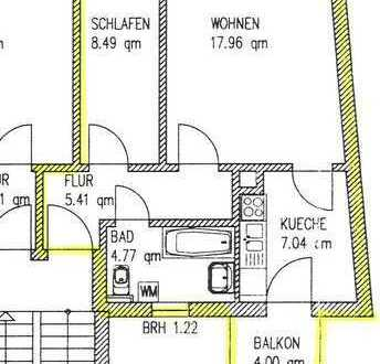2-Zimmer-DG-Wohnung mit Balkon