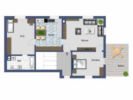Geräumige 3-Zimmer-Wohnung mit Balkon! Sofort bezugsfrei