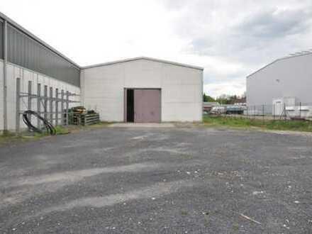 Halle / Werkstatt ca. 300 m² zzgl. Freifläche ca. 800 m² - zu vermieten