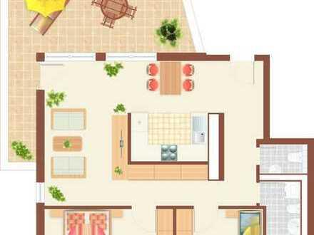 Stilvolle, neuwertige 3-Zimmer-Wohnung mit Dachterrasse in Eching