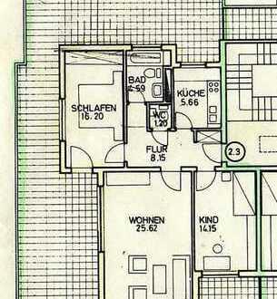 3-Zimmer komplett renoviert mit 114m² Dachterrasse