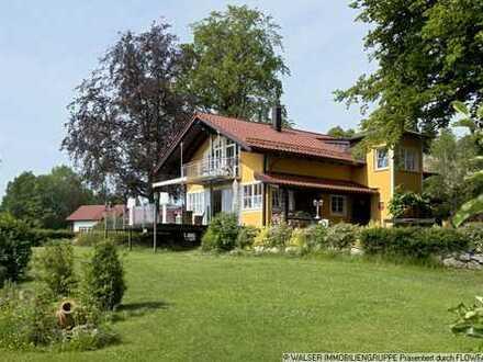 WALSER: Unique! Landhaus-Villa mit Panorama-Weitblick vom Ammersee bis zum Karwendel