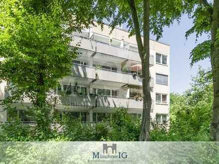 MÜNCHNER IG: ERBPACHT! Ruhige 2 Zimmer Wohnung im grünen Idyll mit 2 großen Balkonen