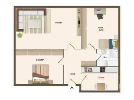 Tolle 3-Zimmer-Wohnung wurde für Sie fertig renoviert!