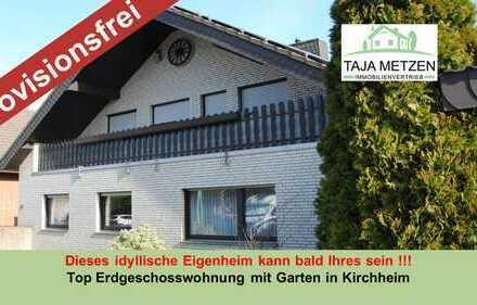 Dieses idyllisches Eigenheim kann bald Ihres sein ! Top Erdgeschosswohnung mit Garten in Kirchheim