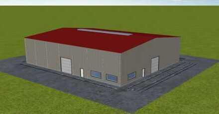 Neubau - durchgängig barrierefrei befahrbare Halle zu verkaufen