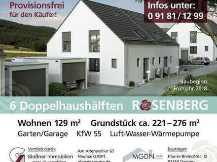 """Energiesparend und umweltbewusst - """"Rosenberg"""" DHH - Schlüsselfertig inkl. Baunebenkosten"""