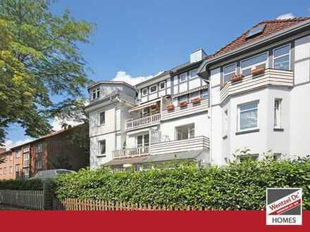 PROVISIONSFREI für Käufer – Vermietete Altbauwohnung mit drei Balkonen in HH-Bergedorf