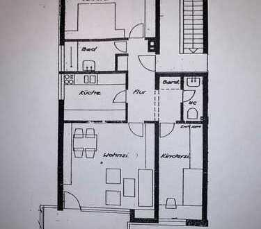 Stuttgart-Killesberg, neu sanierte 3-Zi.-Wohnung, Balkon, großer Garten