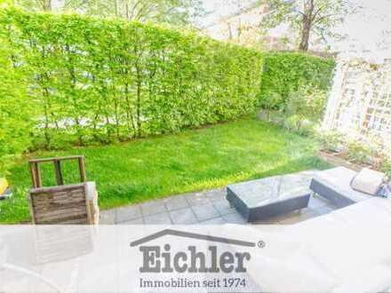 EICHLER IMMOBILIEN: Nähe BMW & Olympia: Gepflegtes Apartment mit kleinem Garten