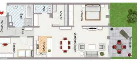 Moderne Erdgeschosswohnung in top Lage für Erstbezug