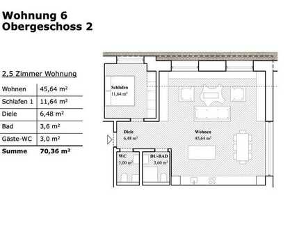 2,5 Zimmer Wohnung mit Garten